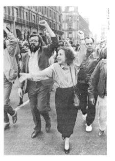 Rosario Ibarra y Edgard Sánchez
