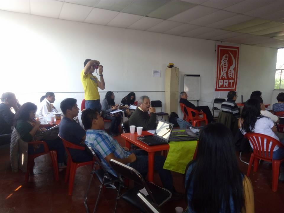 Otra sesión vespertina de la Escuela de Cuadros de diciembre del 2015